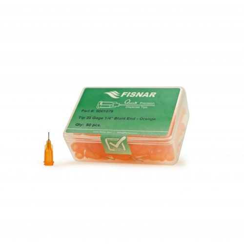 "Fisnar 23ga Orange 1/4"" Blunt End Tip - 50 Pack"