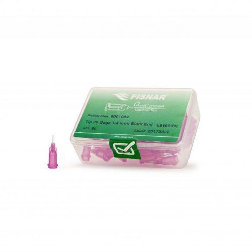 """Fisnar 30ga Lavender 1/4"""" Blunt End Tip - 50 Pack"""