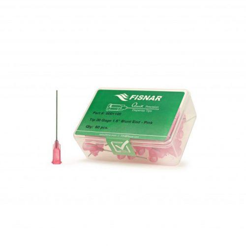 """Fisnar 20ga Pink 1.5"""" Blunt End Tip - 50 Pack"""