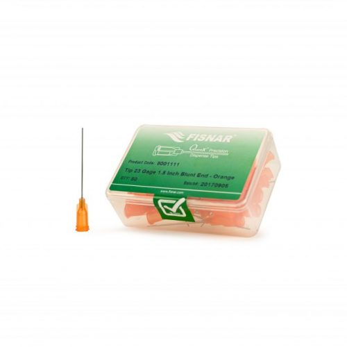 "Fisnar 23ga Orange 1.5"" Blunt End Tip - 50 Pack"