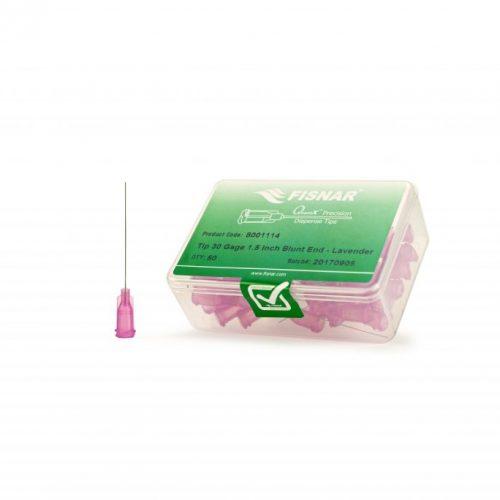 """Fisnar 30ga Lavender 1.5"""" Blunt End Tip - 50 Pack"""