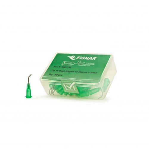 """Fisnar 18ga Green 0.5"""" 45 Blunt End Tip - 50 Pack"""