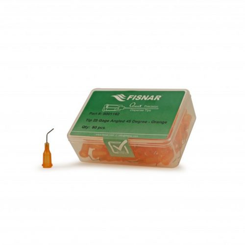 "Fisnar 23ga Orange 0.5"" 45 Blunt End Tip - 50 Pack"