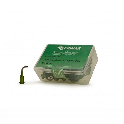 """Fisnar 14ga Olive 0.5"""" 90 Blunt End Tip - 50 Pack"""