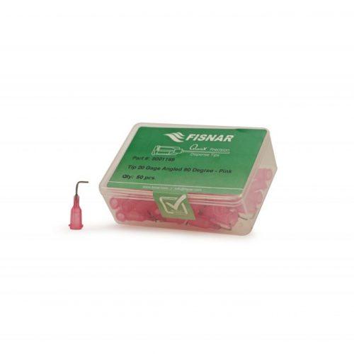 """Fisnar 20ga Pink 0.5"""" 90 Blunt End Tip - 50 Pack"""
