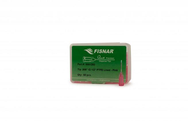 """Fisnar 0.006"""" I.D. 1/2"""" PTFE Lined Tip - 50 Pack"""