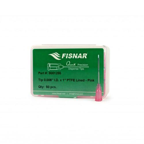 """Fisnar Pink 0.006"""" I.D. PTFE Lined Tip - 50 Pack"""