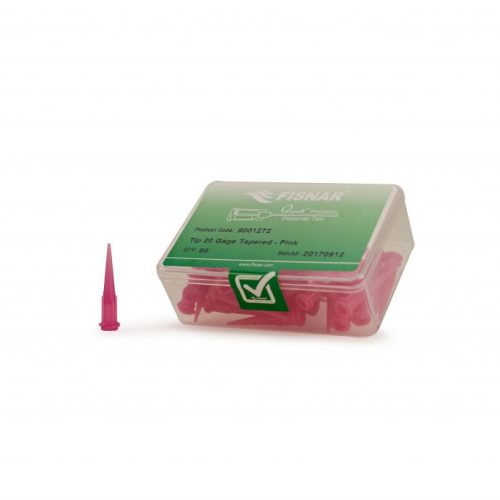 "Fisnar 20ga Pink 0.024"" I.D. Tapered Tip - 50 Pack"
