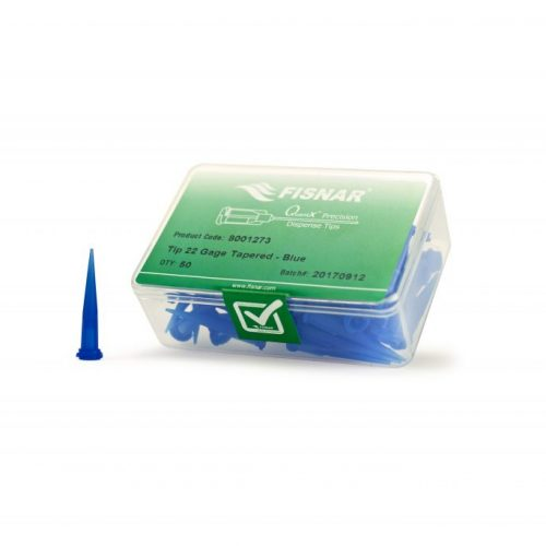 "Fisnar 22ga Blue 0.016"" I.D. Tapered Tip - 50 Pack"