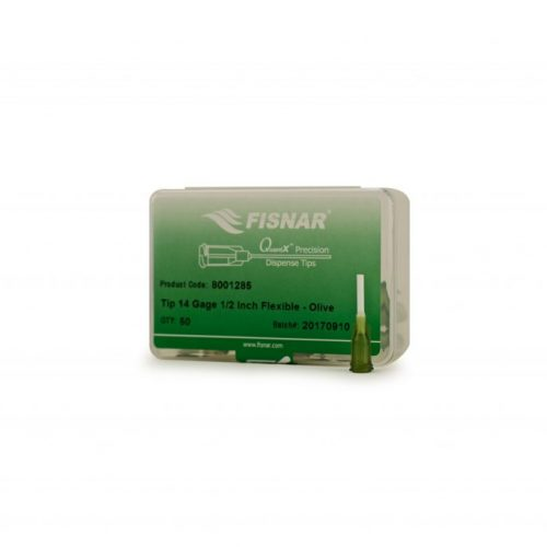 "Fisnar 14ga Olive 0.5"" Flexible Tip - 50 Pack"
