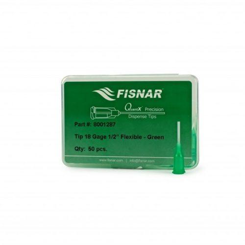 """Fisnar 18ga Green 0.5"""" Flexible Tip - 50 Pack"""
