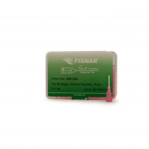 "Fisnar 20ga Pink 0.5"" Flexible Tip - 50 Pack"