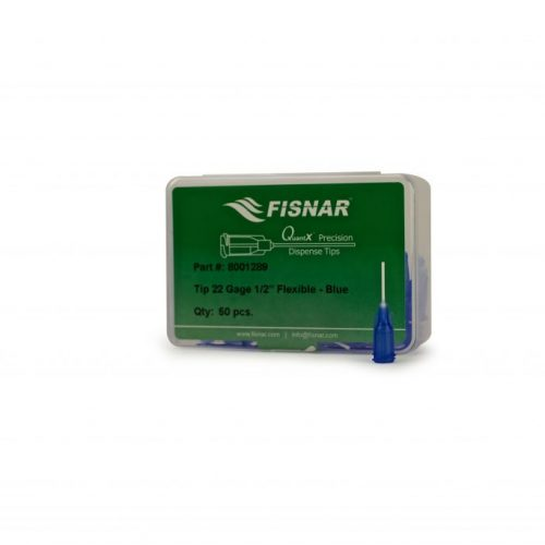 "Fisnar 22ga Blue 0.5"" Flexible Tip - 50 Pack"