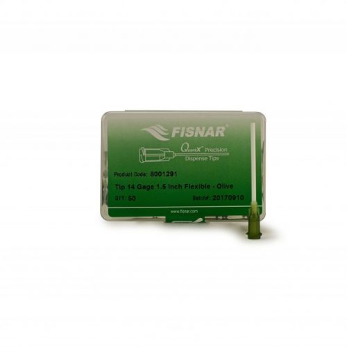 "Fisnar 14ga Olive 1.5"" Flexible Tip - 50 Pack"