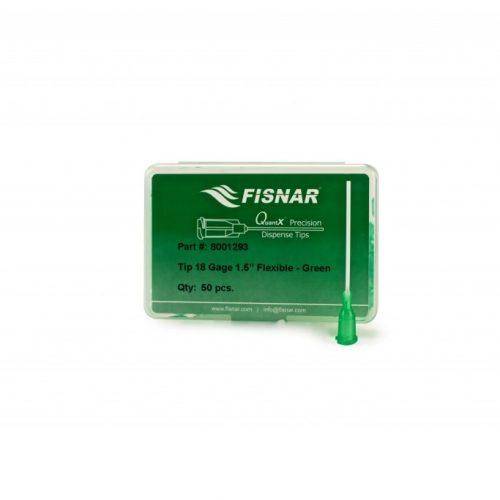 """Fisnar 18ga Green 1.5"""" Flexible Tip - 50 Pack"""