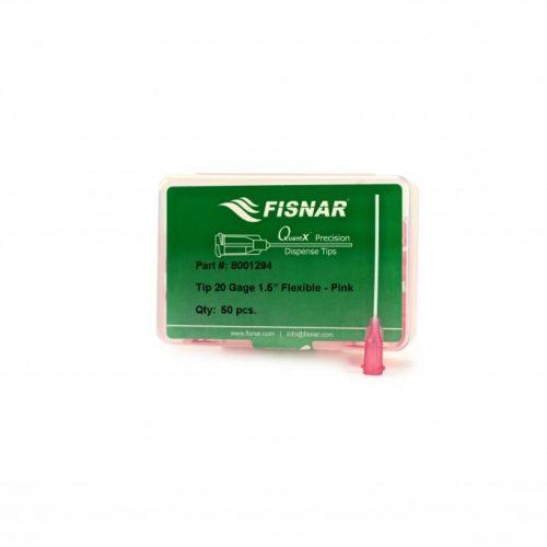 "Fisnar 20ga Pink 1.5"" Flexible Tip - 50 Pack"