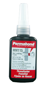 Permabond MM115 Threadlocking Adhesive Bottle