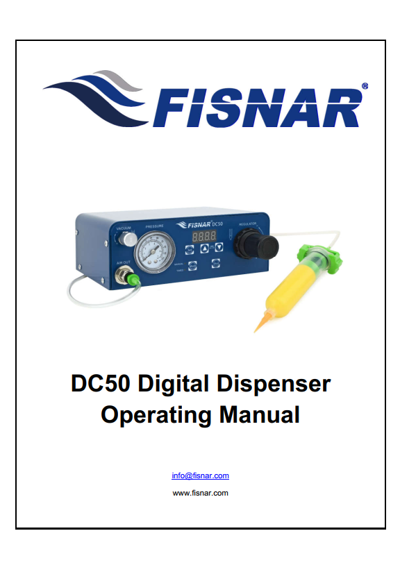 Fisnar DC50 Digital Dispenser Operating Manual